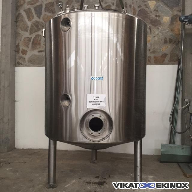 cuve 5000 litres inox 316 calorifug e vikat ekinox. Black Bedroom Furniture Sets. Home Design Ideas