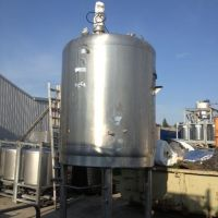 6000L S.S. mixing tank, on 4 legs