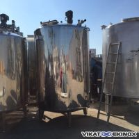 Cuve inox agitée 4000 litres