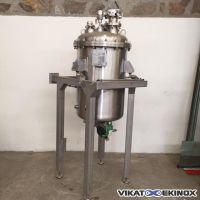 Cuve agitée 327 litres inox 316 sur cadre inox