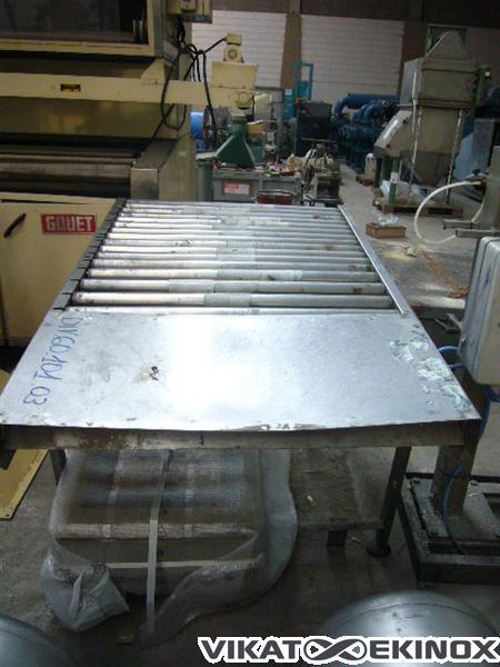 Roller conveyor, stainless steel