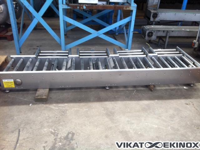 s.s. roller conveyor L 1000 mm motorized, 3 inlets