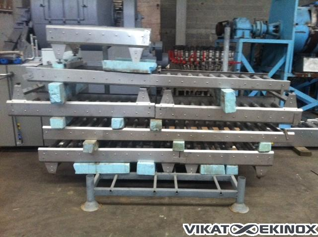 s.s. roller conveyor L 830 mm with scales