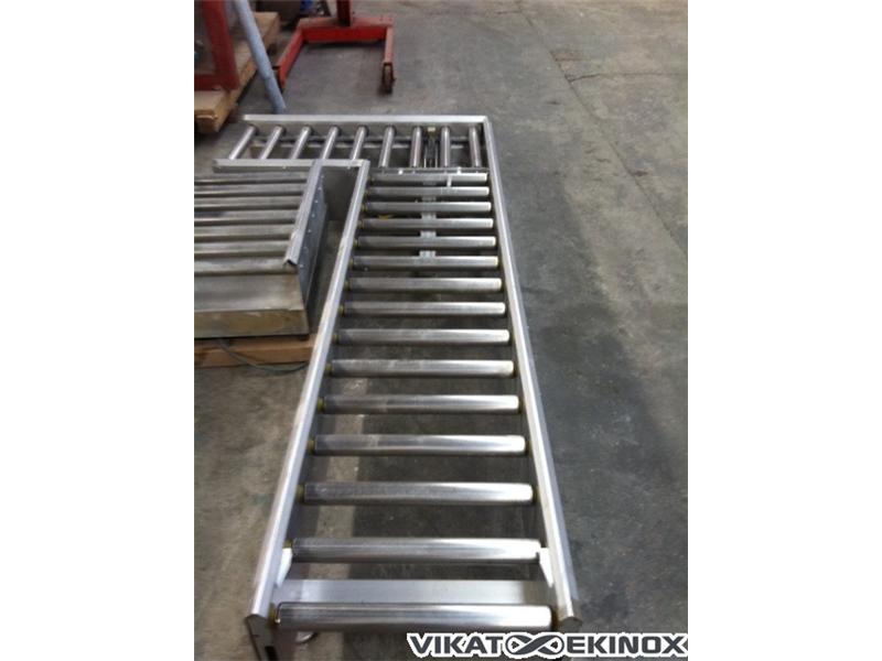 s.s. roller conveyor L 2550 mm