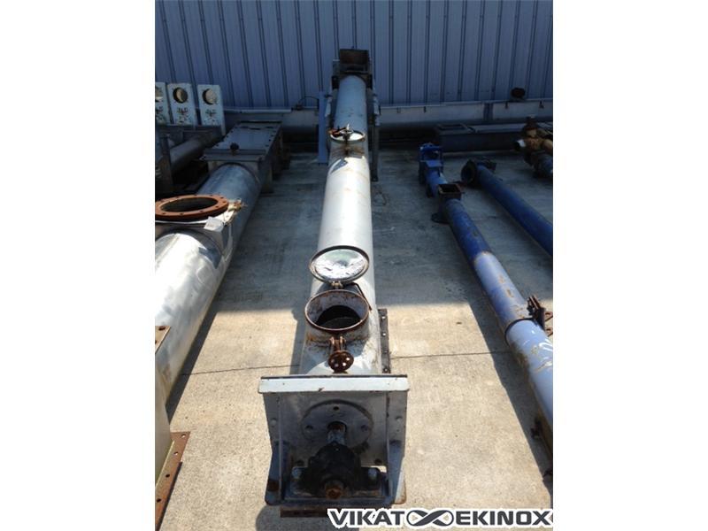 Steel screw, tube, L 4000 mm