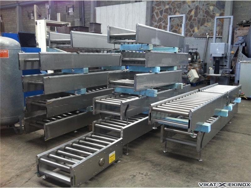 s.s. roller conveyor L 1000 mm motorized