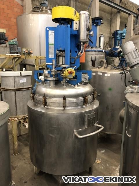 Double jacket reactor 620 litres, S.S. grade 316