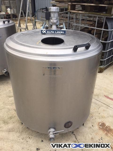 Alfa Laval stainless steel mixing tank 480L