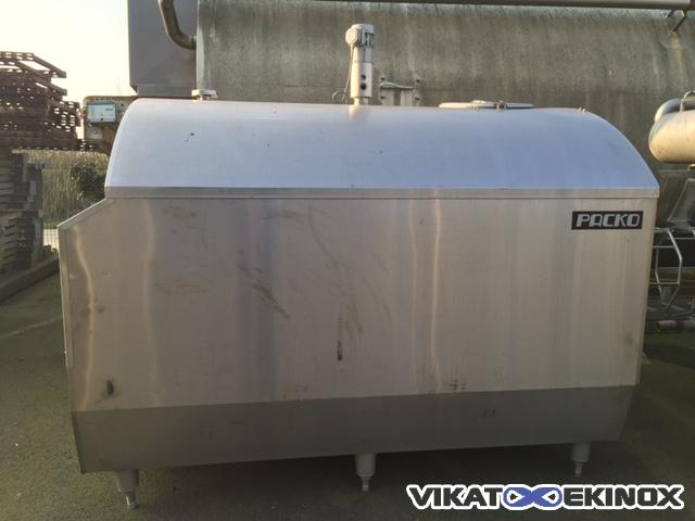PACKO Stainless steel tank 3300 litres with stirrer and insulation