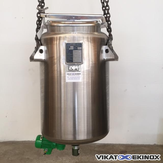 Stainless steel tank 275 litres with magnetic agitation