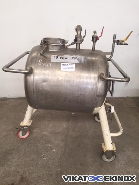Stainless steel tank 250 litres on wheels