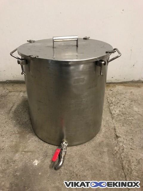 Stainless steel vessel 75 L