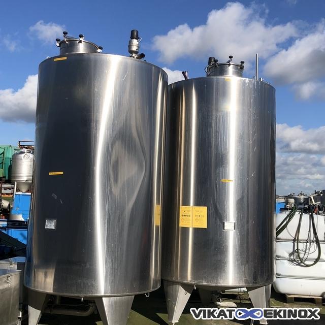 Stainless steel tank Chalvignac Industrie, 7900 L