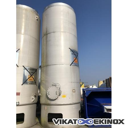 CTRA stainless steel tank with compartments 30180 litres