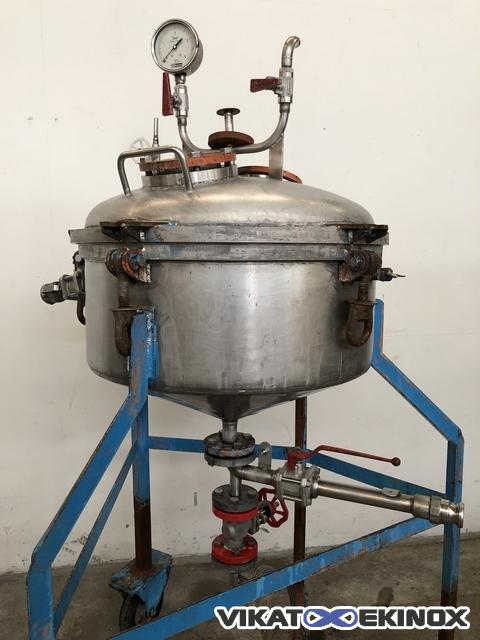 Stainless steel monoplate filter Ø 600 mm