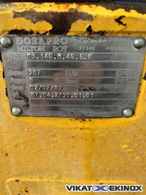 Dosapro Milton Roy dosing pump type MB 140 H 40 E 8 | Vikat Ekinox