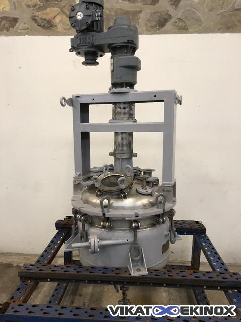 Stainless steel reactor 125 litres