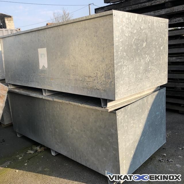 DENIOS retention tray in galvanised steel 2500 litres