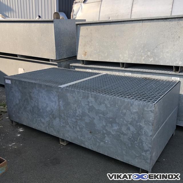 DELAHAYE retention tray in galvanised steel 2500 litres
