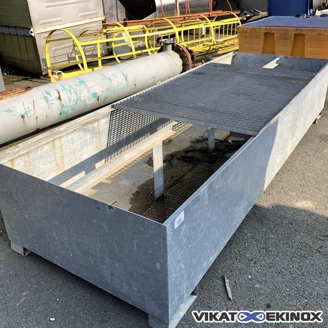 Retention tray in galvanised steel 2500 litres