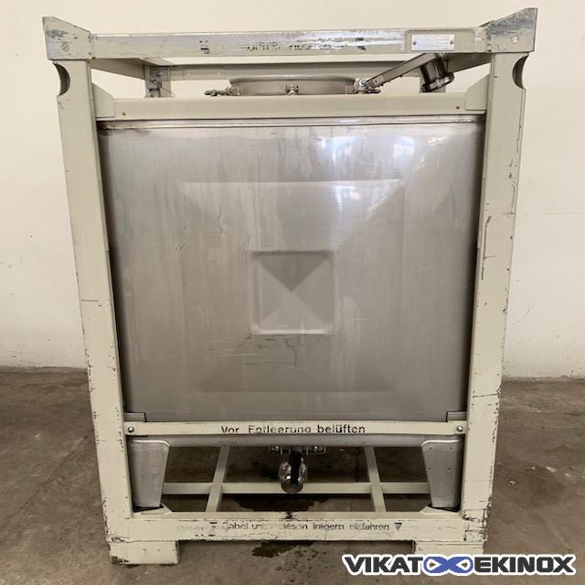 Stainless steel container 1000 litres