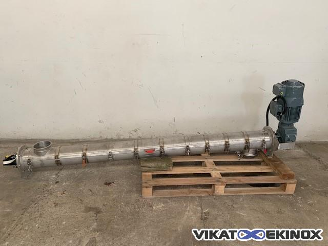 Stainles steel screw Ø150 Length 2000 mm complete opening
