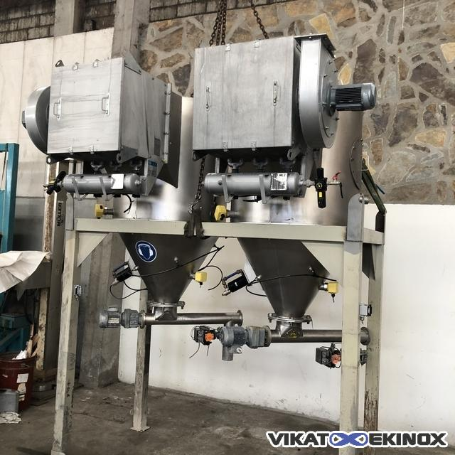 Screw feeder and S/S dust filter