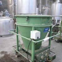 Conical transfer Hopper, stainless steel, 1000 liters
