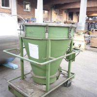 Mixing hopper, stainless steel, 100 liters