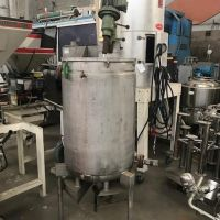Stainless steel tank 150 liters with agitator, double jacket