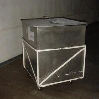 Bac inox sur roulettes de 800 litres