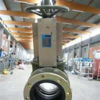 Stainless steel knife gate valve, with flange