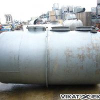 Stainless steel horizontal tank 3000 L