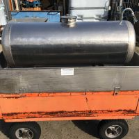Stainless steel tank of 250 liters, on wheels