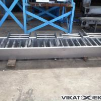s.s. roller conveyor L 1000 mm motorized, 3 inlets