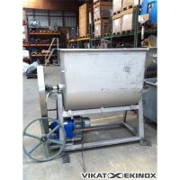 Horizontal stainless steel mixer 700 litres