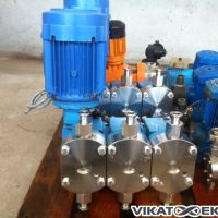 Lewa dosing pump 350L/h 3 stainless steel heads