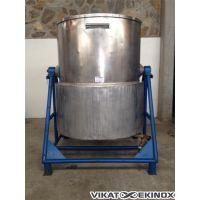 Tilting stainless steel tank 2300 litres