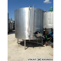 Stainless steel tank 7500 litres, double jacket
