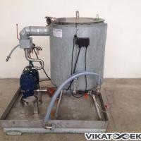 Cuve inox 100 litres avec pompe à membrane