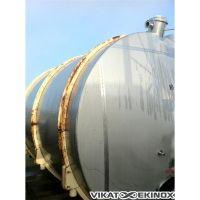 Cuve de 16 500 litres horizontale, inox 316
