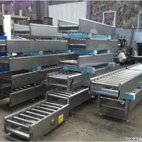 s.s. roller conveyor L 1000 mm motorized