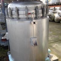 Double jacket stainless steel tank 770 L