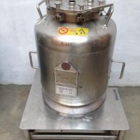 Stainless steel tank 83 litres, on wheels