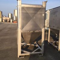 Trémie inox 316 env. 2000 litres