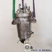 Cuve LTM 36 litres inox 316 sur goussets, agitation magnétique