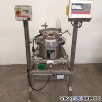 Cuve inox 25 litres sur pesons, agitation magnétique