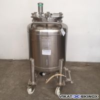 Stainless steel tank 240 litres on wheels