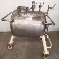 Cuve inox 250 litres inox 316Ti horizontale sur roues