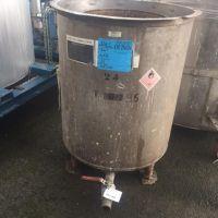 Cuve inox ouverte sur pieds 550 litres